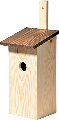 dobar 22127e Caisse à Repas Simple en pin avec Barre de Fixation Pratique Marron Ø 32 mm 17 x 17 x 40 cm