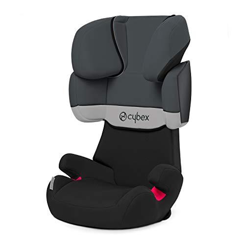 Cybex Silver Solution X-Fix, Seggiolino Auto per Bambini, Gruppo 2/3/15-36 kg, da 3 fino a 12 Anni Circa, senza ISOFIX, Grigio/Gray Rabbit/Dark Grey