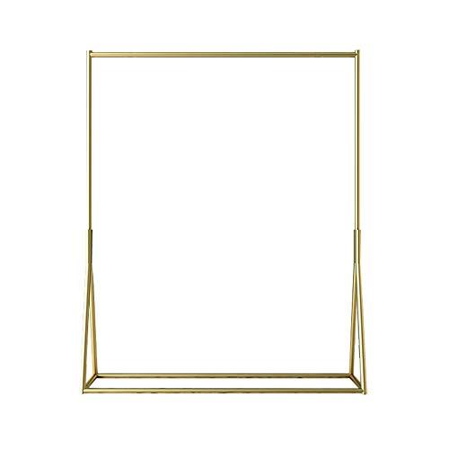 DENGSH Mode Bodenständig Garderobenständer,Eisen Einfach Kleiderstange,Familie Geschäft Bekleidungsgeschäft Dauerhaft/golden / 150 x 80cm