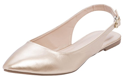 Top 10 best selling list for flat closed toe slingback shoes