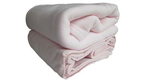 Echo Phillips Baby 5-teiliges Bettwäscheset Bale Baby Pink – Jersey-Spannbetttuch, Flanell-Bettlaken, weiche Fleece-Decke