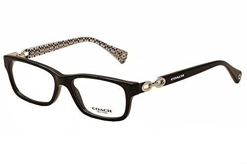 Coach Women's HC6052 Eyeglasses Black/Black White Sig C 52mm