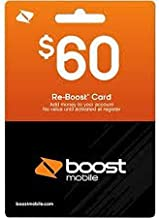 Boost Mobile $60 Reboost Refill Card (Mail Delivery)