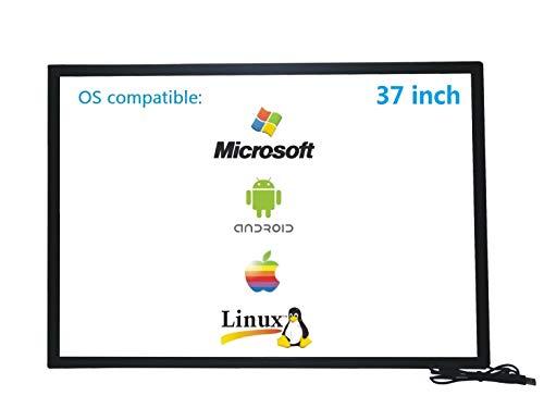 Deyowo Marco de pantalla táctil infrarroja de 37 pulgadas, superposición de pantalla táctil IR, panel de pantalla táctil, controlador libre para pizarra interactiva, monitor LCD táctil TV