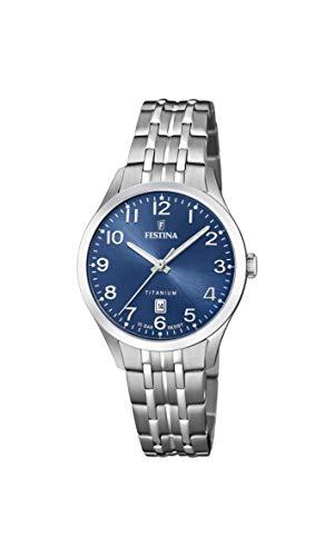 Festina Damen Analog Quarz Uhr mit Titan Armband F20468/2