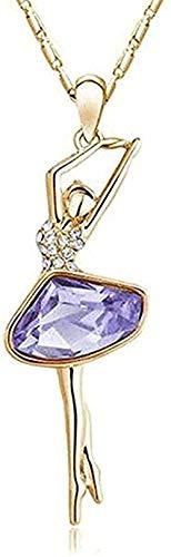 Yiffshunl Collar Collar Collar Cristal Ballet Dancing Girls Colgante Collar Collar Regalo