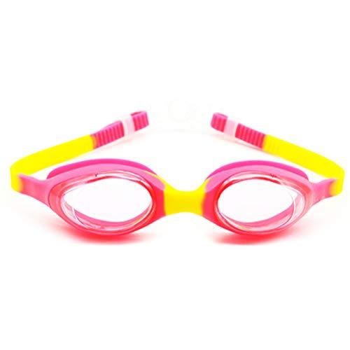 Einsgut kinderzwembril veiligheidsbril voor kinderen, duikbril, anti-condens, UV-bescherming voor meisjes en jongens roze