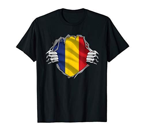 Super Romanian Heritage Shirt Romania Roots Flag Gift T-Shirt