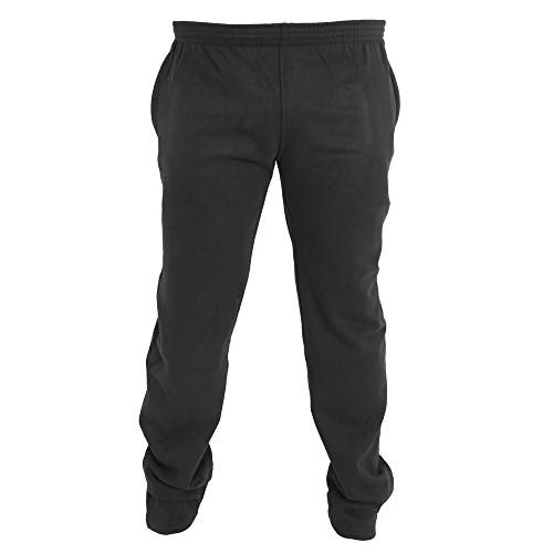 Duke - Pantalones de chándal en Talla Grande con Dobladillo Abierto Modelo...
