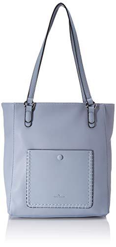 TOM TAILOR Shopper Damen, Hellblau, Parma, 36x9x31 cm, Handtasche groß, Umhängetasche