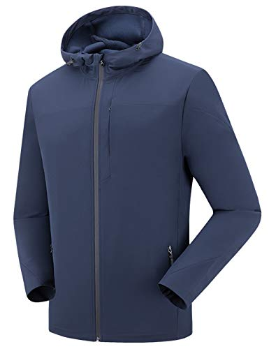 Mens Windbraker Softshell Cycling Winter Blue Jacket