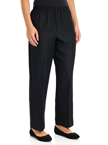 Alfred Dunner Misses Classics Pull-On Pants, 12 Short, Black