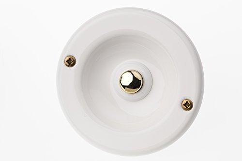 HUBER Klingeltaster 12520, 1-fach unter Putz, rund, weiß