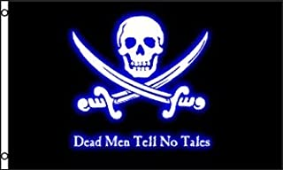 Dead Men Tell No Tales Flag - Premium Double-Stitched 100% Polyester w/Brass Grommets 3' x 5'