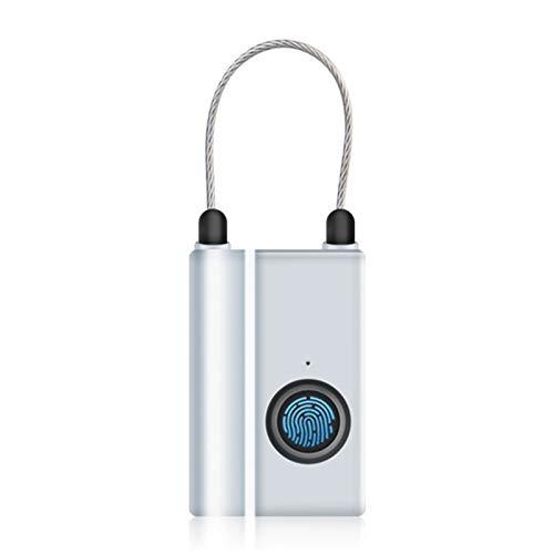 Candado de Huella Digital Inteligente, Mini Candado Inteligente Recargable USB IP65 Prueba de Agua Cerradura Electronica Sin Llave Inteligente Candado Antirrobo