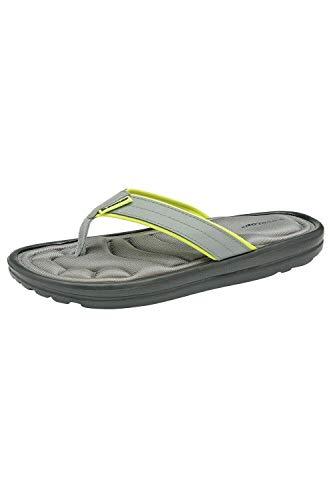 Dunlop Herren Eva Max Zehentrenner Flip Flops Sport Strand Sommer Sandalen Urlaub Pool Schuhe Größe 39-47, Grau - Scott Grey Lime - Größe: 44 EU