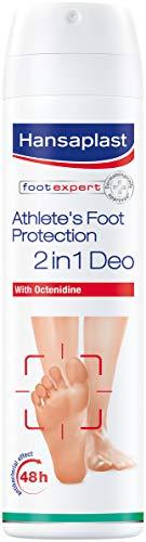 Hansaplast Fußpilz-Schutz 2in1 Deo 1er Pack (150 ml), antibakterielles Fußdeo mit 48h Schutz vor Fußgeruch, Fußspray zur Vorbeugung von Fußpilz