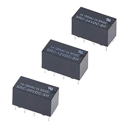 QIANSDZSW Relé 8 Pines Relay SRC-05VDC-SH SRC-12VDC-SH SRC-24VDC-SH 5V 12V 24V (Size : SRC 05VDC SH)