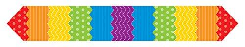 Chemin de Table Pois et Rayures colorés 183 cm