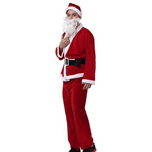 Yue668 - Disfraz de Pap Noel para hombre, diseo de cinturn y bigote