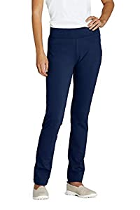 Lands' End Women s Starfish Slim Leg Pants Deep Sea Navy Petite Medium