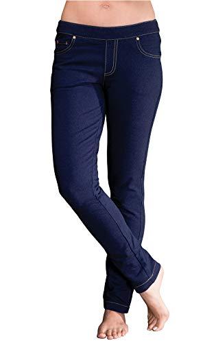PajamaJeans Petite Jeans for Women - Womens Petite Pants, Indigo, XL