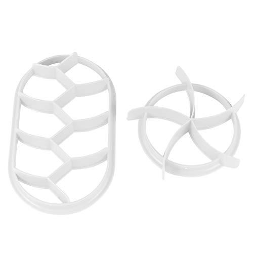 Cabilock Cortador de galletas de plástico de 2 piezas, molde para hornear,...