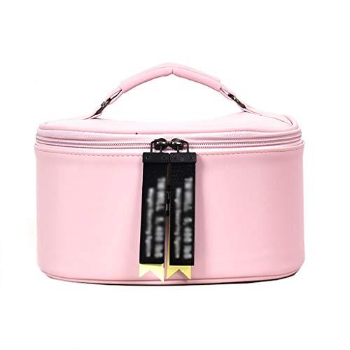 Sac cosmétique de Taille des Femmes Cosmetic Case Sac de Stockage Portable de Grande capacité Sac de Lavage Portable (Color : Pink, Taille : 23 * 17 * 12cm)
