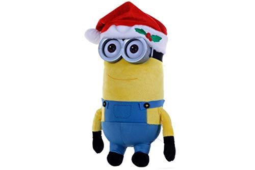 Minion Weihnachts X-Mas Plüschfigur mit Plastikaugen/Brille 28cm (Kevin)