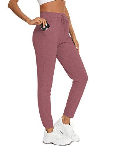 Damen Jogginghose Sportswear-Hosen Casual Sweathose Baumwolle Yogahose Sporthosen Athletic-Pants Vier Jahreszeiten 98/100/101.5/103/104.5cm Lotusfarbe S