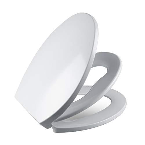 siège de toilette Couvercle de Toilette épaissi en Forme de V,Matériau PP Blanc idéal 2-en-1, Convient aux Enfants en Bas âge et aux Adultes, Une Solution permettant,Un Entrainement au Petit Pot