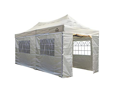 All Seasons Gazebos 3M x 6M Waterproof Gazebo Party Tent with Rustproof Frame and Wheeled Carry Bag (Beige)
