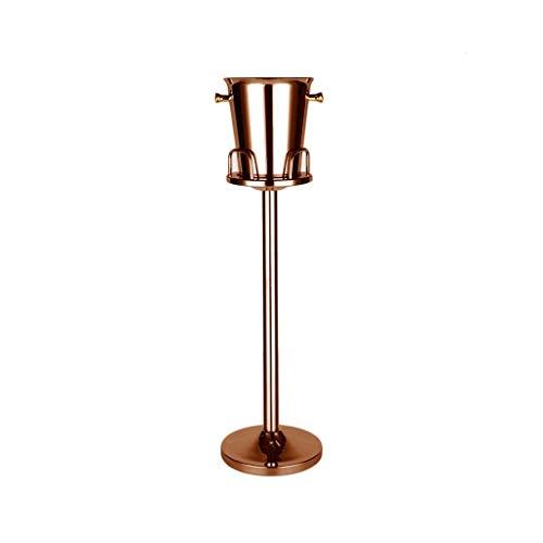 Z-Storage Cubeta De Hielo, Acero Inoxidable Cubo De Hielo Enfriador Canastilla De Champán Barril De Vino Soporte for Cubo De Hielo No Es Fácil De Oxidar for Bar KTV Comercial (Color : Bronze)