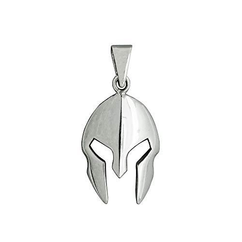 Beldiamo - Casco espartano de plata de ley 925, 6 g, joyería de arte tracio, joyería griega antigua, regalo para hombres y mujeres