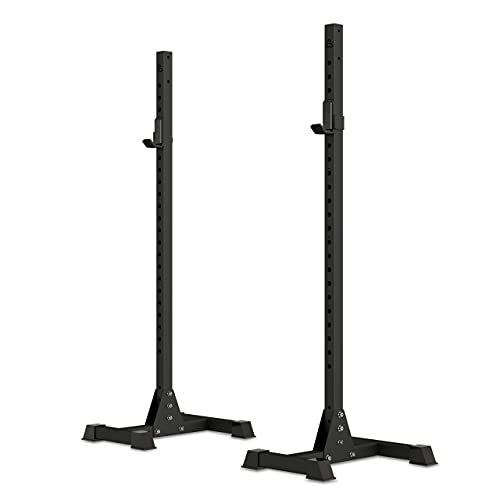 HOLD STRONG Fitness SMART Athletics Mobile Squat Stands - Soporte para mancuernas (incluye copas J)