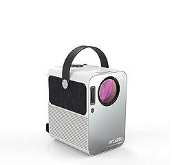 WZATCO M6 HD 720P (1080P Support) | 3300 lumens 390 ANSI Cinema Portable LED Projector Bluetooth 5.0 HDMI USB Compatible with TV Stick (M6 White),WZATCO,M6 With Bluetooth 5.0