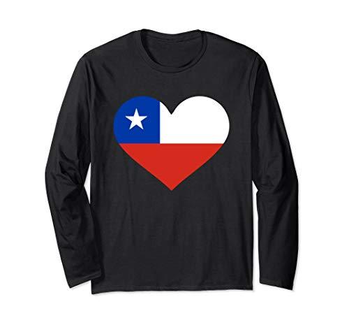 Chile Fahne Langarmshirt