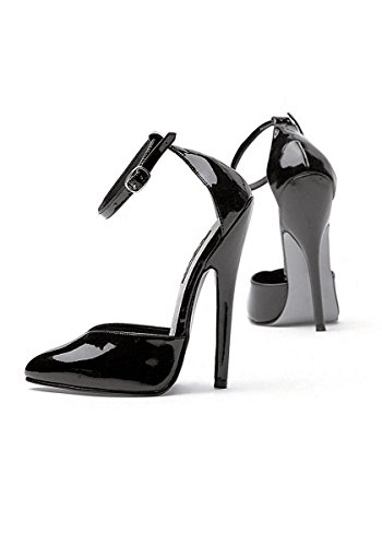 Ellie Shoes Women's 6 Inch Heel Fetish Pump with Ankle Strap (Black;8)
