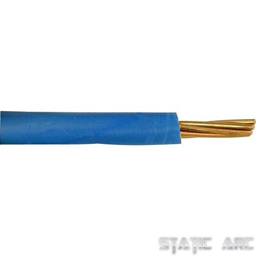 Einadriges elektrisches Kabel, Verkabelung, Kabelschutzrohr, Länge 1,5/2,5/4/6/10mm²,230V, blau