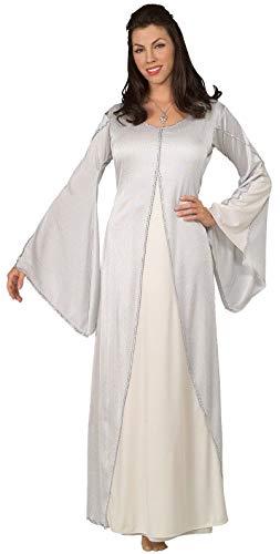 El seor de los anillos LOTR tm Arwen tm Adult White Dress (Necklace not included) One size fit up to Dress size 14 (disfraz)
