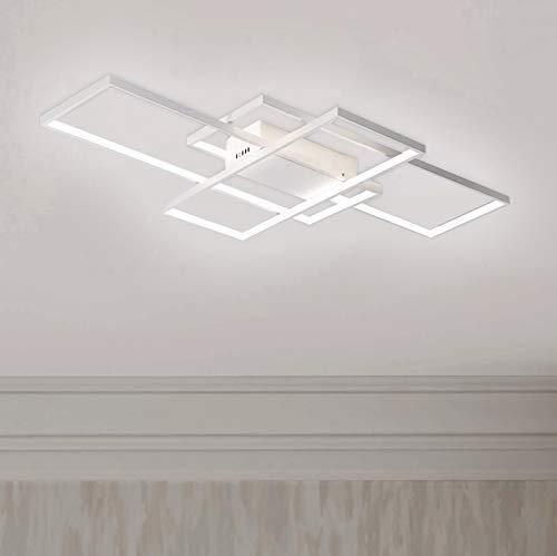 Leniure White Modern Square LED Light Ceiling Lamp Chandelier Lighting Fixture 35