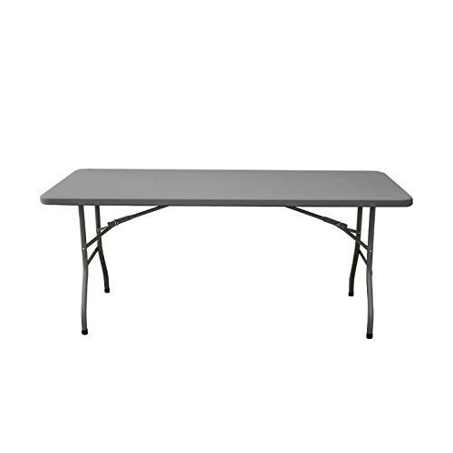 Mesa rectangular 200x90x74 para exterior e interior. Cualquier tipo de celebración y evento. Mesa con patas plegables para hostelería y catering.