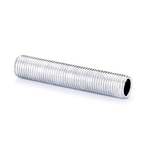 Tubo roscado M10 x 1, 10 tubos de hierro, tubo de lámpara, tubo de lámpara, tubo galvanizado, 10 unidades