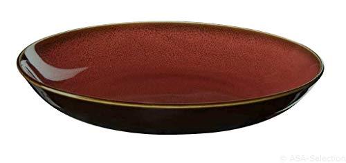 Teller tief coupe D.24cm/H.4, 5cm rusty red KOLIBRI ASA-Selection (6 Stück)