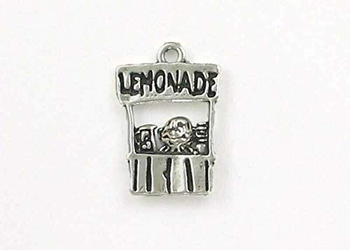 Sterling Silver Lemonade Stand Charm DIY Crafting by Wholesale Charms