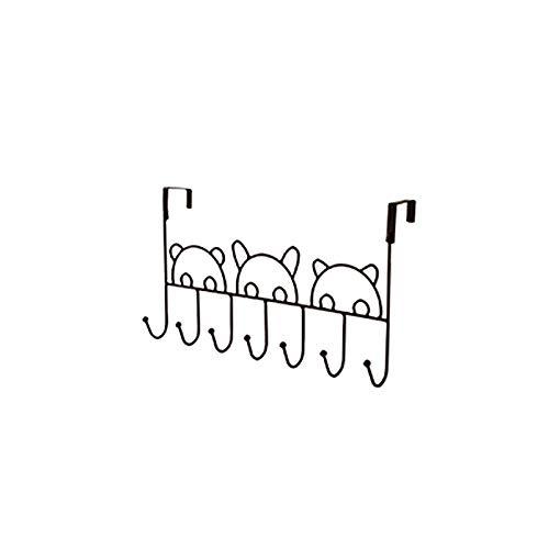 ZHan Gancho Autoadhesivo,Ganchos detrás de la Puerta,Ganchos de Pared Adhesivos,toalleros de Hierro,percheros,Chaquetas de Almacenamiento,Mochilas Escolares,toalleros detrás de la Puerta (1 Paquete)