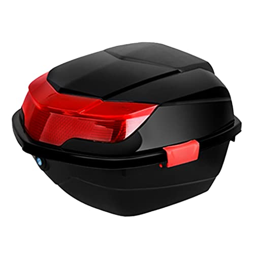 Caja Superior para Scooter de Motocicleta Caja para Moto Caja de Cola de Motocicleta Impermeable con Hebilla de Doble Capa con Núcleo de Bloqueo Antirrobo de Seguridad Caja de Equipaje de Motociclet