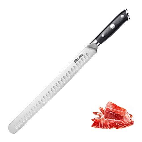 PAUDIN Brisket Knife 12-Inch - Razor Sharp Granton Edge Carving Knife, Ham Roasts Meats Brisket...
