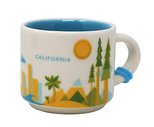 Starbucks You Are Here Serie California Keramik Demitasse Ornament Tasse, 60 ml