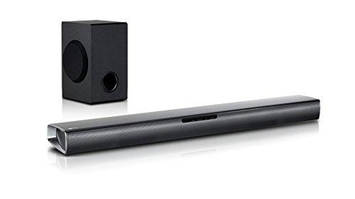 LG SJ2 altoparlante soundbar 2.1 canali 160 W, nero